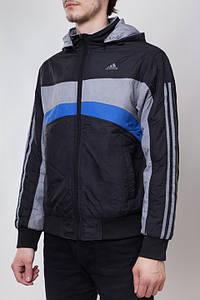 Adidas 00271   Двухсторонняя куртка черно-серая
