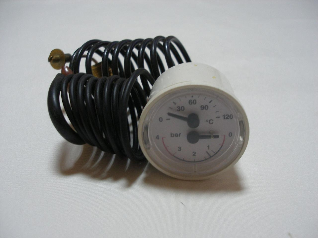 Термоманометр для газового навесного котла Immergas Nike/Eolo Star/mini 23 ( на ручках). 1.013413