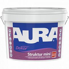 Структурная краска для фасадов и интерьеров Aura Dekor Struktur mini 10л