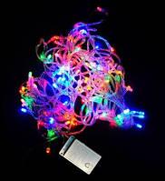 Гирлянда светодиодная на 300 LED (разноцветная, 8 режимов, прозрачный провод), фото 1