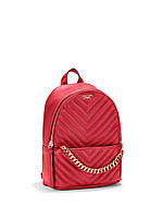 Стильный красный рюкзак от Victoria's Secret Pebbled V-Quilt Small City Backpack