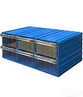 Выдвижной модульный ящик 120-6 (В×Ш×Г)160×370×204