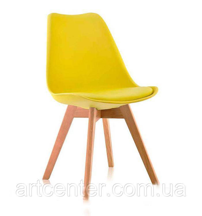Стул для офиса, стул для дома, стул для посетителей, стул черный с мягким сиденьем (ТОР желтый)
