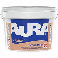 Структурная краска Aura Dekor Struktur для фасадов и интерьеров 10л