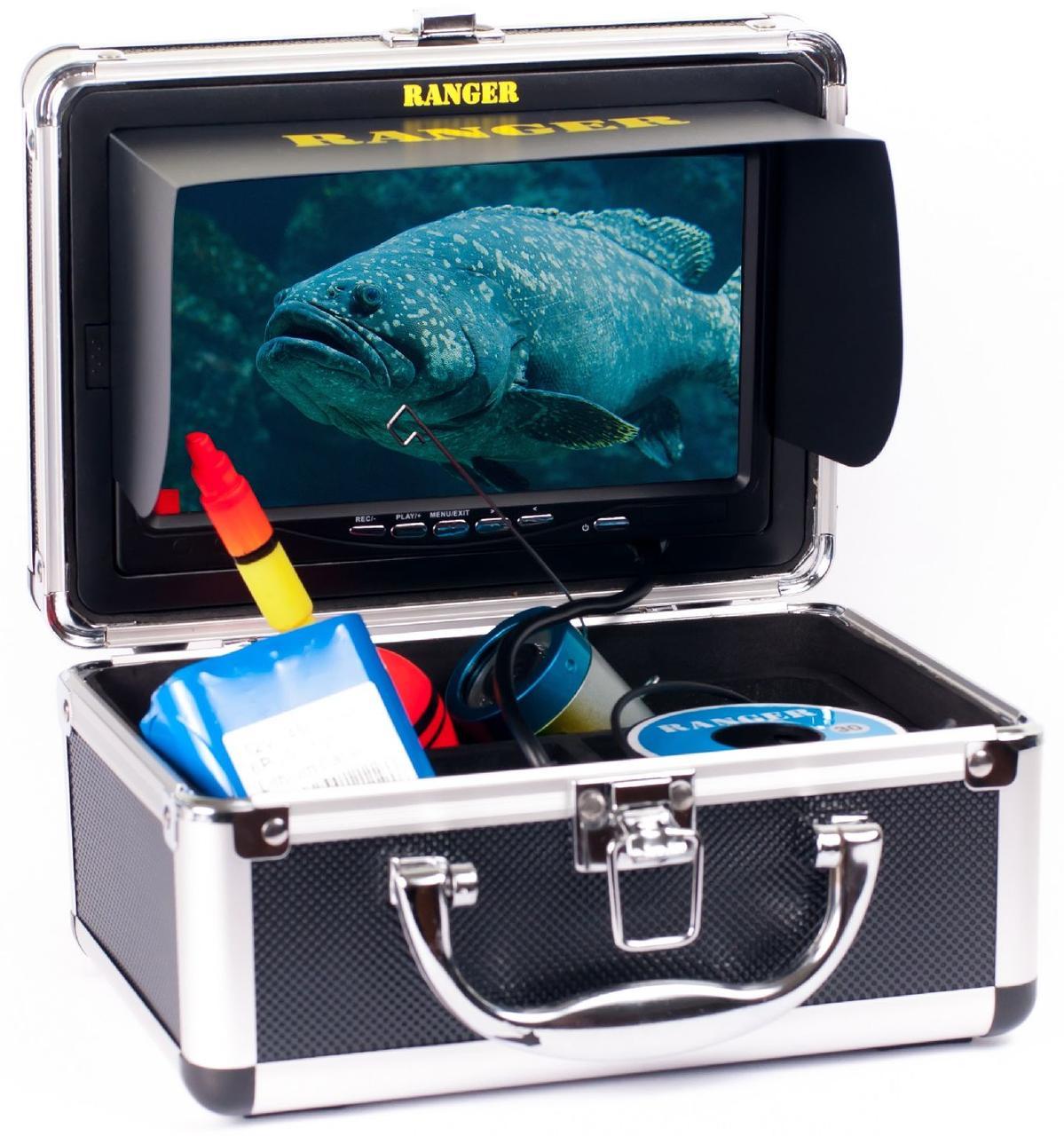"Подводная камера для рыбалки Ranger Lux Record (экран 7"") + карта памяти 8 Гб"