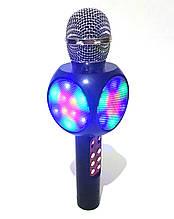 Безпровідний мікрофон караоке з динаміком і світломузикою, WS-1816 (USB, microSD, AUX, FM, Bluetooth)