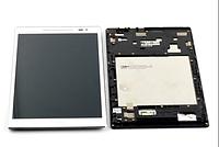 Дисплей (экран) для Asus ZenPad 8.0 Z380C/Z380KL + тачскрин, белый, с передней панелью серебристого цвета