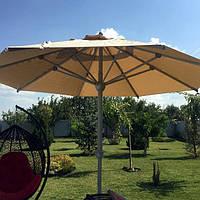 """Зонт круглый """"ALU-4""""- Ø4м, с наборной  подставкой из бетонных плит для кафе"""
