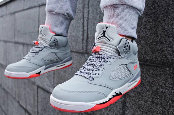 """Топ продаж Кроссовки женские Nike Air Jordan 5 GS """"Hot Lava"""" (Найк Аир  Джордан) c8514fd790c"""
