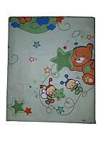 Детский комплект постельного белья в кроватку Сатин gold