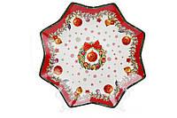 """Блюдо Фарфоровое """"Рождественский орнамент"""" 25 см (498-222), фото 1"""