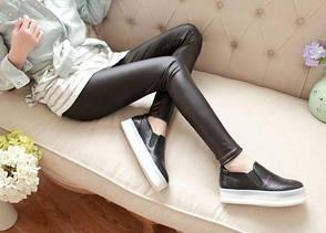 Леггинсы тонкие чёрные -320-19, фото 2