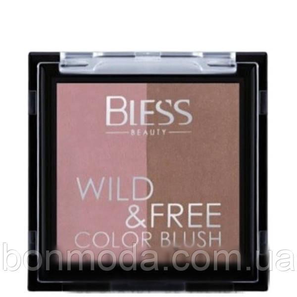 Румяна двойные Duo Color Blush Wild&Free Bless Beauty № 01