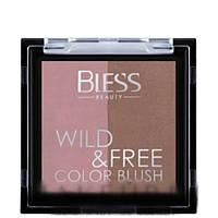 Румяна двойные Duo Color Blush Wild&Free Bless Beauty № 01, фото 1