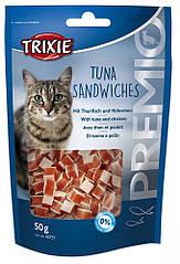 Лакомство Trixie Premio Tuna Sandwiches для кошек с курицей и тунцом, 50 г