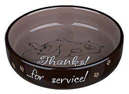 Миска Trixie Ceramic Bowl for Short-Nosed Breeds для персов неглубокая, керамика, 0.3 л