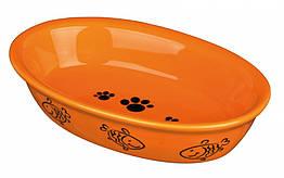 Миска Trixie Ceramic Bowl для кошек овальная, керамика, 0.2 л