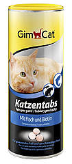 Витамины Gimcat Katzentabs для кошек с рыбой и биином, 710 шт