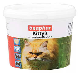 Кормовая добавка Beaphar Kitty's + Taurine-Biotine для кошек с биином и таурином, 750 таб