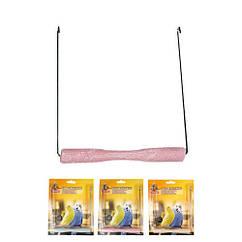 Качели Karlie-Flamingo Swing Sand Perch для птиц с песчаной жердочкой, 14х1,5 см