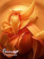 """Рельефные фотообои на гибкой штукатурке Ricchi """"Огненный цветок"""" 101смх135см"""