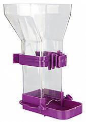 Кормушка Trixie Food Dispenser для птиц пластиковая, 150 мл