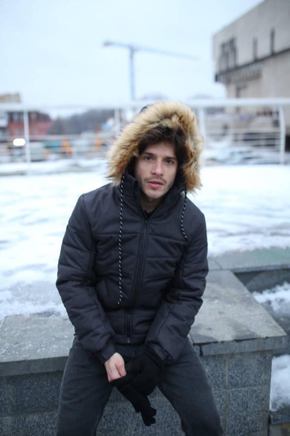 """Куртка мужская зимняя черная """"Аляска"""" + подарок Перчатки, фото 2"""
