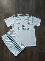 Детская футбольная форма Реал Мадрид 2017-2018 белая   (26 размер)    Распродажа