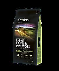 Сухой гипоаллергенный корм для взрослых собак с избыточным весом Profine Light Lamb с ягненком 15 кг