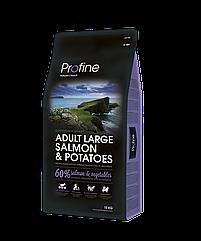 Сухой корм для собак крупных пород Profine Adult Large Salmon & Potatoes, лосось с картофелем, 15 кг