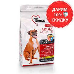 1st Choice Adult Sensitive Skin & Coat корм для собак с чувствительной кожей, 7 кг