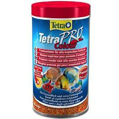 Корм TetraPro Colour для тропических рыб в чипсах, усиление окраса, 100 мл