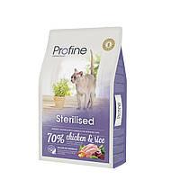 Profine Sterilised корм для стерилизованных кошек с курицей и рисом, 10 кг