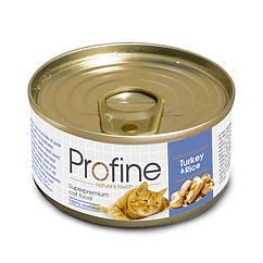 Консервы Profine Turkey & Rice для кошек, индейка с рисом, 70 г