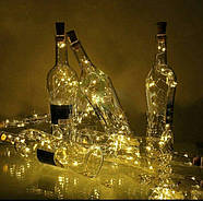 ГИРЛЯНДЫ с пробкой: для букетов, бутылок, декора (на батарейках) синий, розовый, разноцветный RGB, фото 6