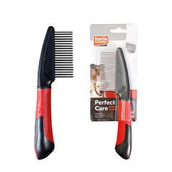 Расческа Karlie-Flamingo Comb Rotating Teeth для собак длинная, вращающиеся зубья, 21 см