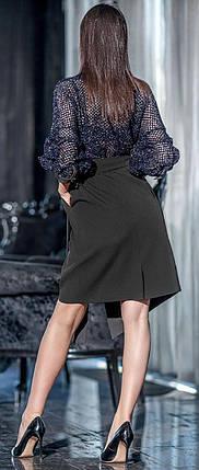 Изысканное платье с юбкой на запах 42-48 р Ванесса, женские нарядные платья оптом от производителя, фото 2