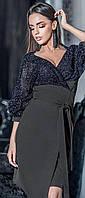 Изысканное платье с юбкой на запах 42-48 р Ванесса, женские нарядные платья оптом от производителя