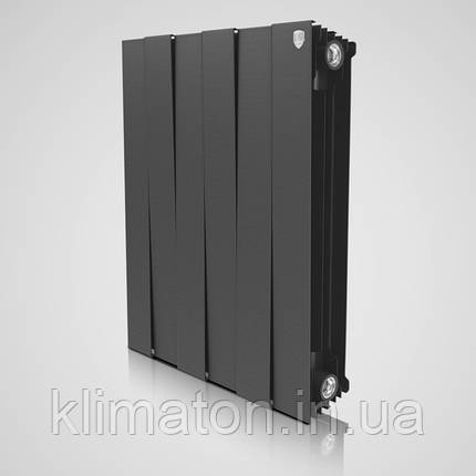 Радіатор Royal Thermo Piano Forte 500 Noir Sable 8 секцій (чорний), фото 2