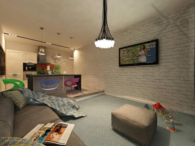 Люстра Chandelier 85 lamps by Rody Graumans подчеркнет индивидуальный стиль гостиной зоны и создаст современную и изысканную атмосферу. Лампы использовались минимальной мощности.