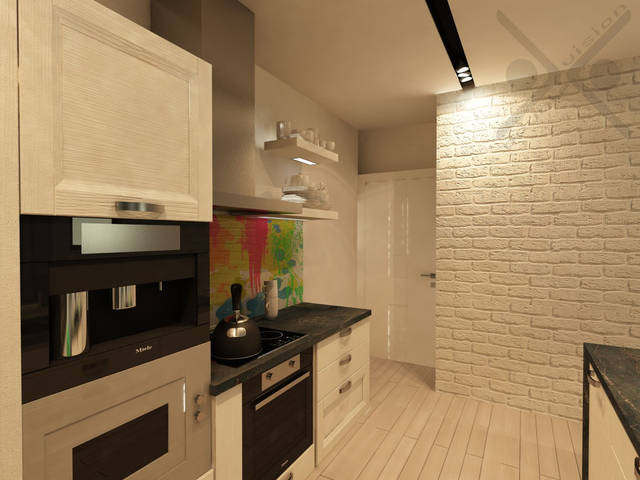 Встроенные в потолок поворотные светильники в черном корпусе обеспечивают идеальную освещенность в каждой точке.