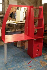 Красный стол парикмахера V33/1