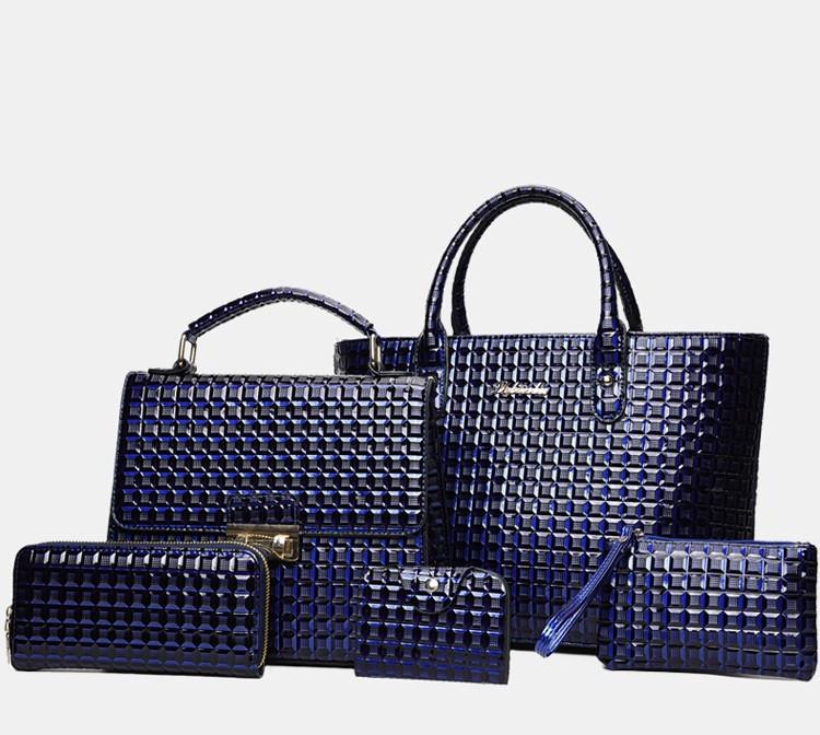 a1929e0dc941 Элегантная женская сумка синяя набор 5в1 из качественной экокожи опт ...