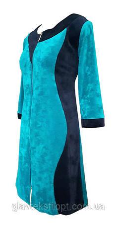 Велюровый женский халат Аленка 58р, фото 2