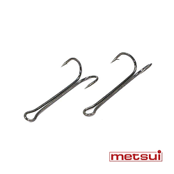 Двойные крючки metsui LONG ROUND цвет bln, размер № 6, в уп. 50 шт.