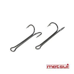 Двойные крючки metsui LONG ROUND цвет bln, размер № 4, в уп. 50 шт.