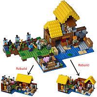 """Конструктор Bela 10813  Майнкрафт """"Фермерский коттедж"""" (аналог LEGO 21144) 560 деталей"""