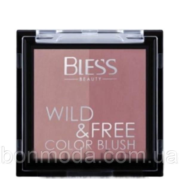 Румяна двойные Duo Color Blush Wild&Free Bless Beauty № 03