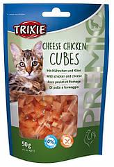 Лакомство Trixie Premio Cheese Chicken Cubes для кошек с курицей и сыром, 50 г