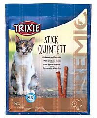 Лакомство Trixie Premio Stick Quintett для кошек с ягненком и индейкой, 5 шт